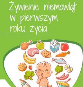 Ulotka na temat żywienia niemowląt w pierwszym roku życia