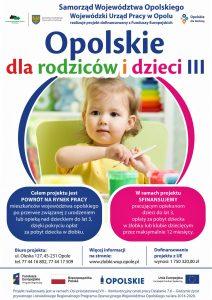 Plakat projektu Opolskie dla rodziców i dzieci III
