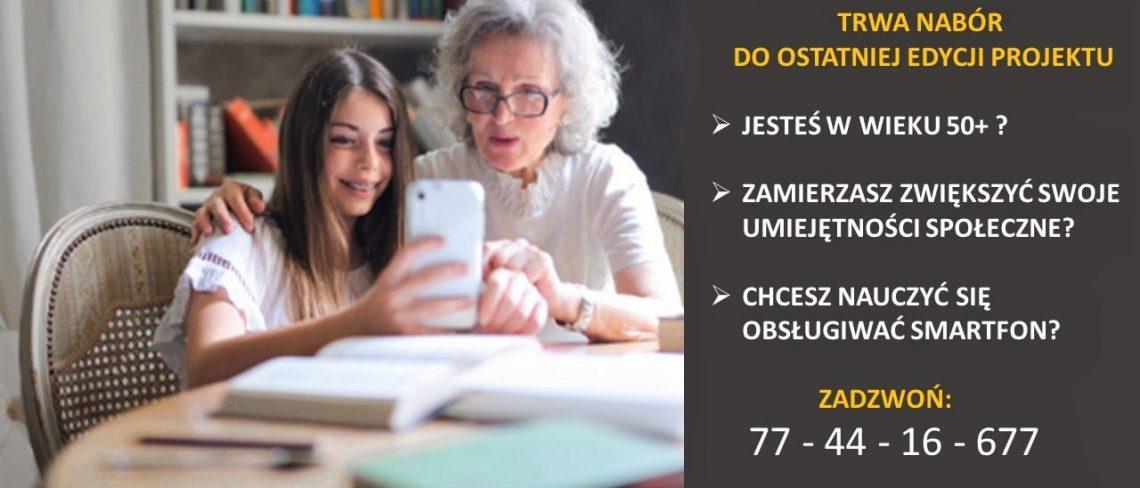 Plakat informacyjny na temat projektu Smart Senior